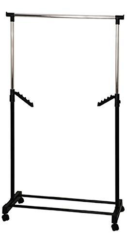 Haku Möbel Kleiderständer-schwarzes Stahlrohr-Kleiderstange verchromt H177 cm