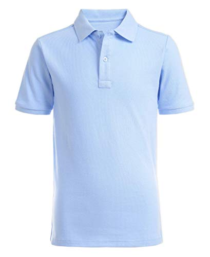 Nautica Boys' Toddler School Uniform Short Sleeve Pique Polo, Light Blue, 4T