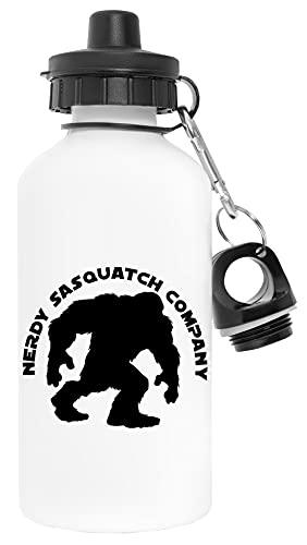 Nerdy Sasquatch Bigfoot Company Blanco Botella de Agua Aluminio Deportes Viaje Exterior White Water Bottle Aluminium Sports Travel Outdoor