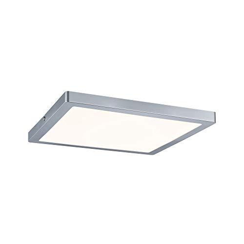 Paulmann 70867 Aufbaupanel LED Atria eckig Deckenleuchte 24W Licht 2700K Warmweiß LED Panel Chrom matt dimmbar für Wand- und Deckenmontage