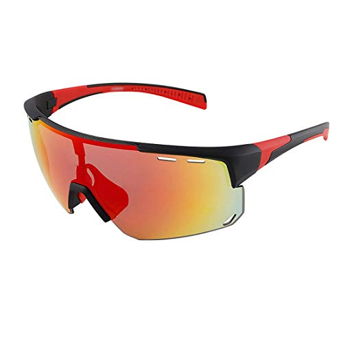 Gafas De Ciclismo Polarizadas,Hombres Y Mujeres Al Aire Libre A Prueba De Viento,Gafas De Bicicleta De Montaña,Gafas De Miopía,3 Lentes Intercambiables