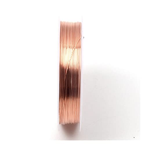 YRYPVD Artesanía de Bricolaje Alambre de Cobre Cable de Cuentas DIY Joyería Haciendo Cuerda Cuerda Accesorios Accesorios Hallazgos para Arte de uñas de Bricolaje, Abalorios de joyer