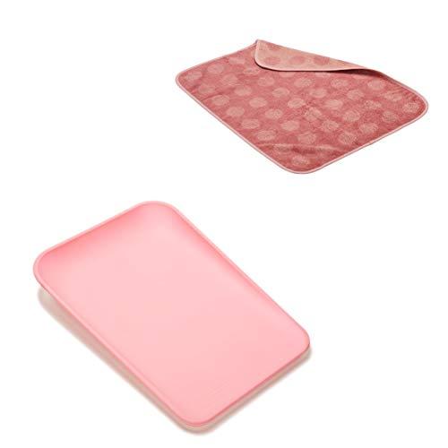 Leander Matty Wickelkissen in der Farbe soft pink + Topper in der dusty rose