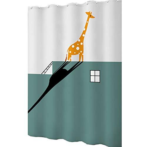 Shower curtains WTL Duschvorhang, verdickt, wasserdicht, für Badezimmer, 120 x 200 cm