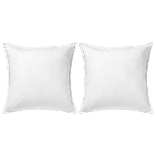 Ikea Gurli - Funda para cojín de color blanco, de 50 cmx 50cm, Pack de 2