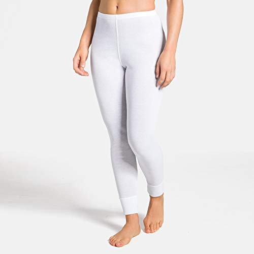 Odlo Damen BL Bottom Long Active WARM Unterhose, White, 3XL