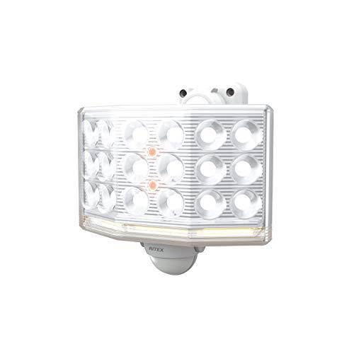 ムサシ RITEX フリーアーム式ミニLEDセンサーライト(18Wワイド) 「コンセント式」 LED-AC1018 ホワイト