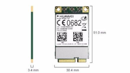 HSPA/UMTS/Edge/LTE 4G Mini-PCIe Modem (Huawei ME909u-521)