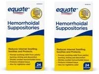Equate Hemorrhoidal Suppositories 24 Ct by Equate Pack of 2 product image