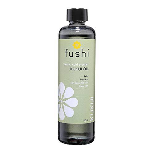 Fushi Organic Kukui Oil 100ml | Virgin & Fresh-Pressed | Rich in Linoleic, Linoleic Acids, Vitamins A,E & F | Best for Sun Damaged Skin, Flaky Skin & Fine Lines | Ethical & Vegan | Made in the UK
