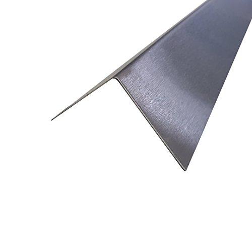 1x Winkel Edelstahl Schenkel 50x40x2500mm K240 geschliffen V2A 0,8mm stark Eckschutzleiste