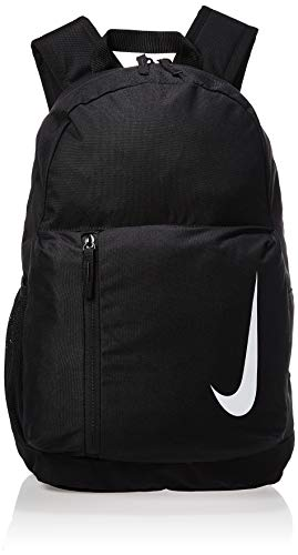 Nike Academy Team Football Backpack - Black/Black/White, 45.5 x 30 x 12.5 cm