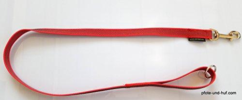 elropet Gummierte Hundeleine 1m mit Handschlaufe u. Ring rot