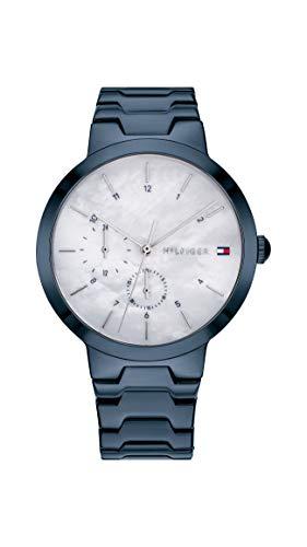 Tommy Hilfiger Reloj Multiesfera para Mujer de Cuarzo con Correa en Acero Inoxidable 1782078