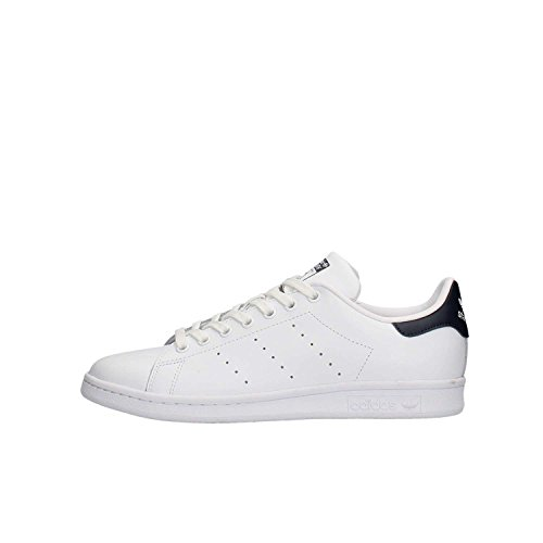 Adidas Originals Stan Smith, Zapatillas de Deporte Unisex Adulto, Blanco (Running White/New Navy), 41 1/3 EU