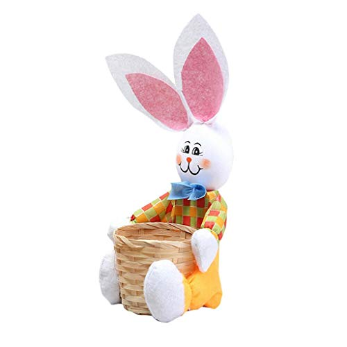 Lazzboy Häschen-Ostern-Korb ärgert Süßigkeits-Geschenk-Speicher-Kaninchen-Taschen-Party-Dekoration(Gelb,Ca 30 x 12cm)