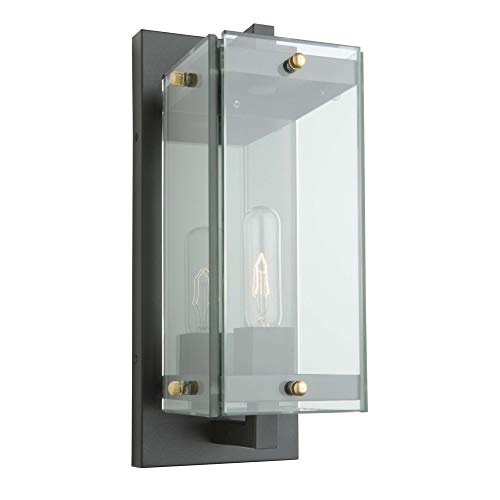 Artcraft Lighting AC8141BK Transitional One Light Outdoor Wall Mount from Bradgate Collection in Black Finish, 20.50x9.00x8.00