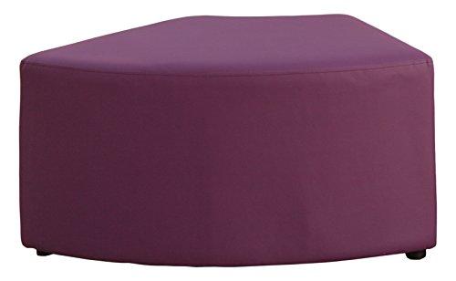 VIVACE Wave – Ottoman, 77 x 48 x 40 cm 77 x 48 x 40 cm Violet