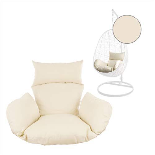 Kideo® Sitzkissen für Hängesessel, Swing Chair Kissen, Ersatzkissen, Wechselkissen, waschbar, 2-teilig, Elfenbein (Nest, 0050 Ivory)
