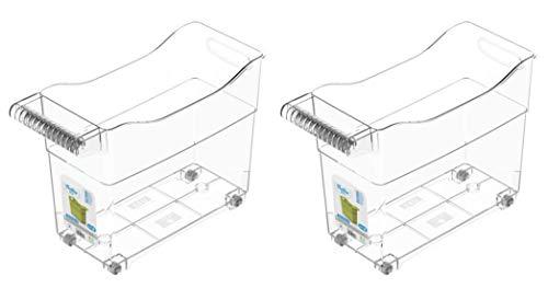 TIENDA EURASIA® Organizador de Cocina - Pack 2 - Carritos de Almacenaje con Ruedas - Ideal para Organizar la Cocina de una Forma Rápida y Sencilla (2, Sin Division)
