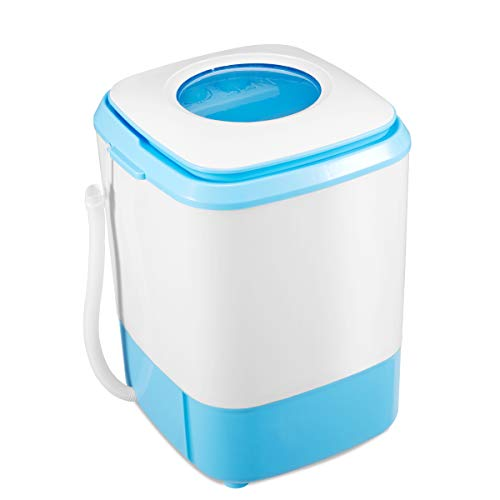 EROMMY Portable Washing Machine, Washing Machine with 8.8 lbs Capacity, 2-IN-1 Portable Washer and Dryer for Compact Laundry, ft Laundry Washer Spin with Long Hose for Apartments Camping, Blue