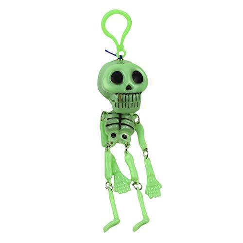 JJrainning Schlüsselanhänger Kinderspielzeug Wird das Nachtlicht kleine Skelett Regal Schlüsselbund ziehen Geist bewegen
