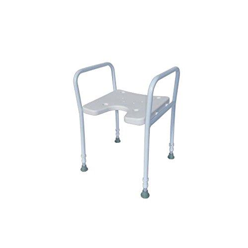 Trendmobil - Duschhocker mit Armlehne Duschhocker - Duschsitz - Badhocker für die Dusche - Höhenverstellbar, Rutschfest, Stabil