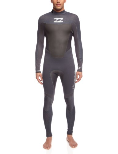 Billabong Foil 3 2mm GBS SEALED SEAM BACK ZIP Wetsuit in  Graphite Drill White L43M07 b1d84a876