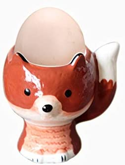 Fox Porcelain Egg Cups Breakfast Eggs Set Long-awaited - Pack of Online limited product Holder Cup