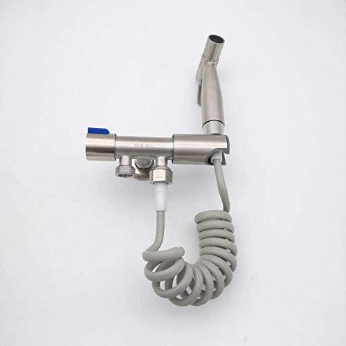 CENPEN Kit de pulverización portátil de acero inoxidable 304 cepillado bidé uno en dos fuera del traje doble-A