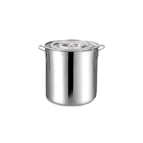 Grande profondeur 304 Stock en acier inoxydable Pot Casserole Marmite, Stock Safe en acier inoxydable avec couvercle Pot-Parfait for Soupes (Size : 25 * 25cm)