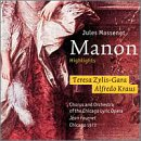 Massenet: Manon - Highlights / Zylis-Gara, Kraus, et al