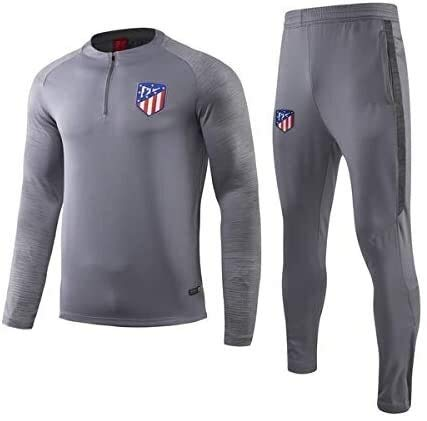 PARTAS Offizielle Fußball-Geschenk Tracksuits Atlético Madrid Football Wear Verein Uniform Atlético Madrid Langarm-Trainingsanzug Wettbewerb Anzug Herren Top + Pants (Size : XL)