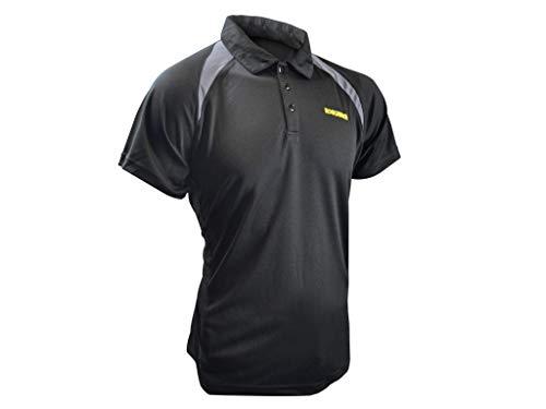 Roughneck Clothing Quick Dry Polo pour Homme Noir Taille M