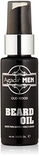 AGADIR Oud Wood Beard Oil, 1.5 Fl Oz