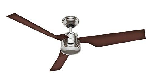 Hunter Fan Flight Ventilador de techo, 66 W, Acero Inoxidable, 3 Velocidades, Niquel Pulido