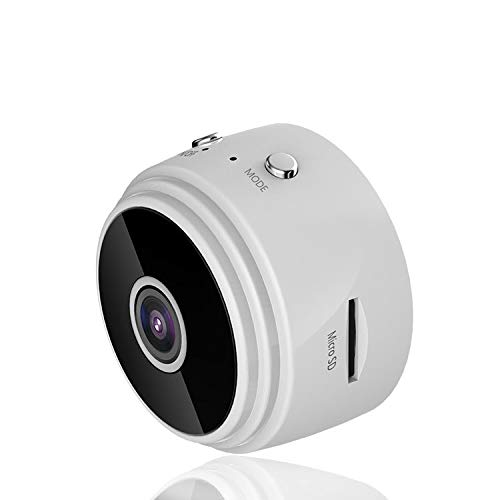 Diommest Binnen/Buiten draadloos WIFI Camera, High-definition 150-graden groothoek Night Vision Camera, Remote Security Monitoring, Card Portable Mini Smart Camera Compatibel met Windows