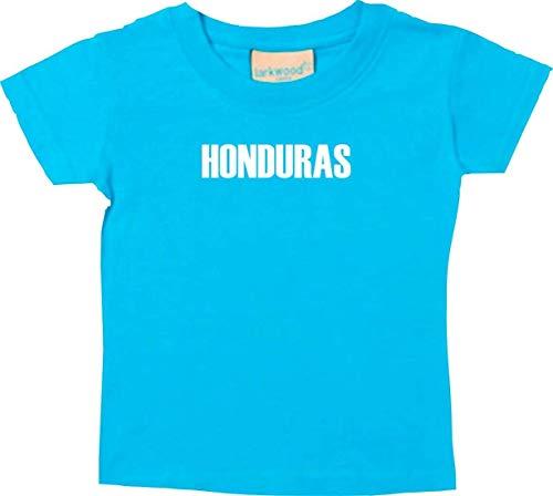 Shirtstown Bebé Niños Camiseta Fútbol Camiseta de País Hunduras - Tuerkis, 18-24Monate