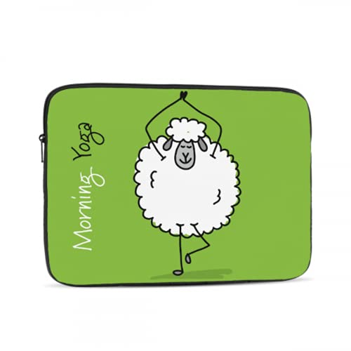 Cover Macbook Pro Cute Sheep Doing Yoga Macbook Pro 2018 Accessories Multi-Color & Size Choices10/12/13/15/17 Inch Computer Tablet Briefcase Carrying Bag