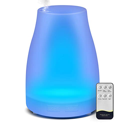 Diffuser, Homeweeks 300ml Colorful Essential Oil Diffuser with Adjustable Mist Mode, Cool Mist Air Auto Off Aroma Diffuser for Bedroom/Office/Trip