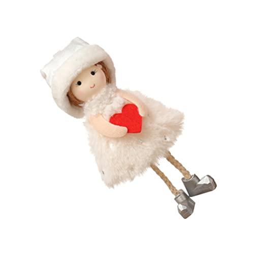 Abaodam Pendurado Anjo Boneca de Pelúcia Brinquedo Bonito Etiquetas Dos Desenhos Animados Pingente Chaveiro Mochila Pendurada Ornamento Para Holiday Party Decoração de Jardim (Bege)
