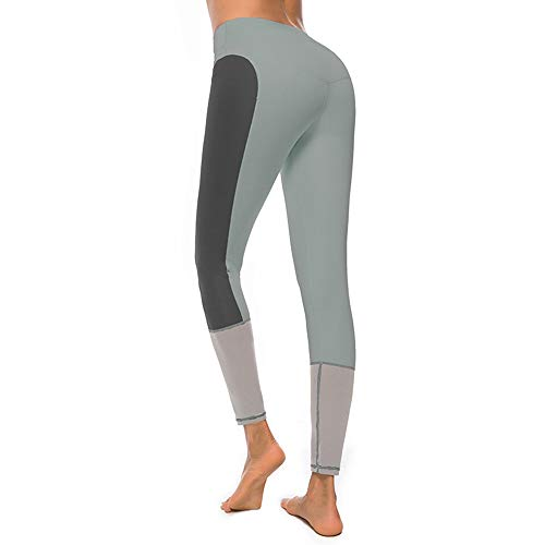 FANGNVREN Yoga Broek, Mode Snelle Drogen Yoga Broek Vrouwen Stitching Kleur Fitness Leggings Yoga Broek Beroep Workout Sport Hardlopen Leggings Gym Draag Slanke Potlood Broek Grijs