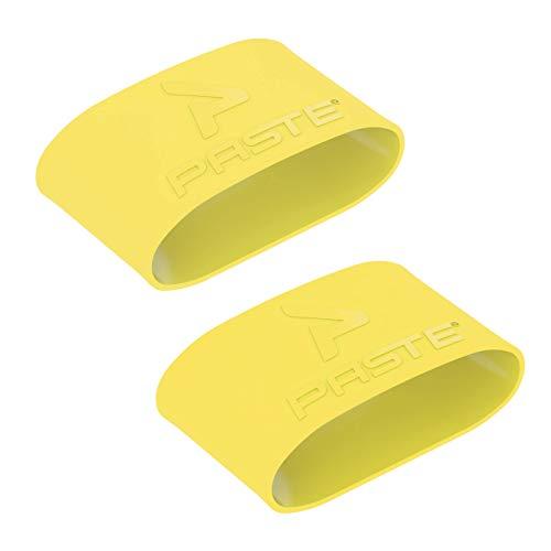 PASTE ® Schienbeinschonerhalter Fußball Herren Aus Silikon (Farbe: Gelb) Halterung von Schienbeinschonern im Stutzen (Schienbeinschoner Halter Ohne Verschluss)