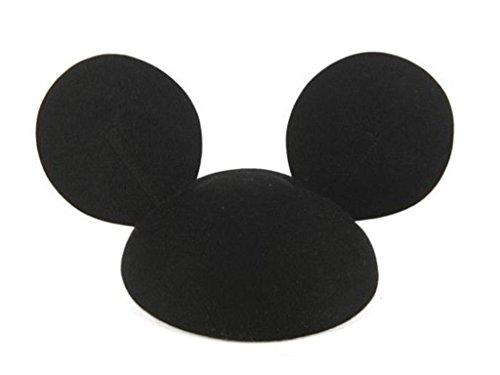 ミッキーの耳ピュアウールベレー帽/耳付帽子/男女兼用/ミッキーベレー帽