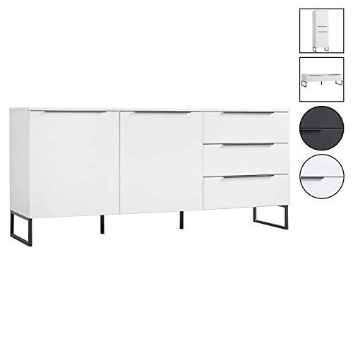 mokebo® Sideboard 'Der Horizontale', minimalistische Kommode & Highboard, Made in Germany, MDF in Mattweiß -19