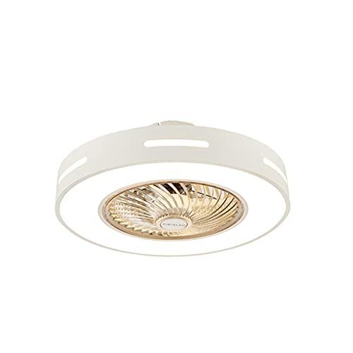 MINGRT Moderna Plafón Ventilador de Techo LED Creativo Lampara Techo con Dimable Control Remoto Silencioso Ventilador Velocidad del Viento Ajustable para Dormitorio Restaurante Salón Iluminación Decor