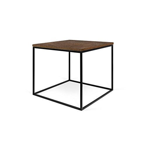 Paris Prix - Temahome - Table D'appoint Gleam 50cm Rouille & Métal Noir
