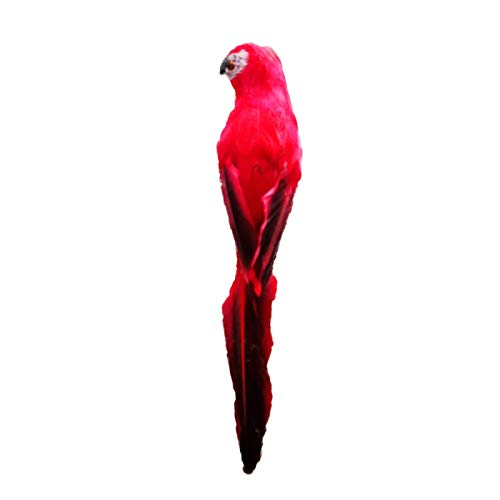 Animal Statues Macaw Parrot Bird Outdoor Garden Grassland Tree Standing Lawn Ornament Photography Props Home Decor Gifts 3Type Options