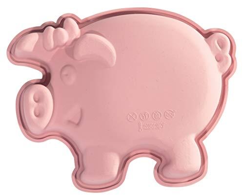 silikomart 20.809.03.0060 Moule en Silicone, Forme de Petit Cochon, Rose, 0,3 x 1,3 x 18 cm