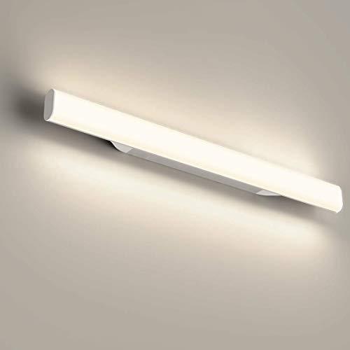 LED Spiegelleuchte, OOWOLF 4000K Badleuchte, Badezimmer, Schrankleuchte, Schminktisch mit Beleuchtung, Schminklampe, Aufbauleuchte, Schrankbeleuchtung, neutral weiß, 85~260 V, 440mm 12W 1200LM